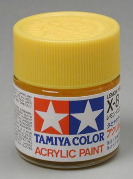Tamiya 81008 Acrylic X-8 Lemon Yellow
