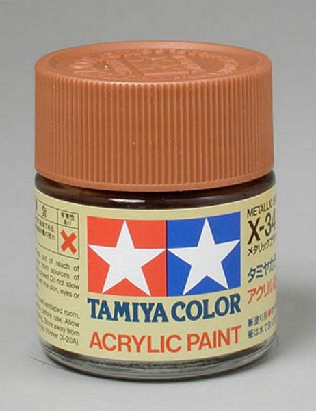 Tamiya 81034 Acrylic X-34 Metallic Brown