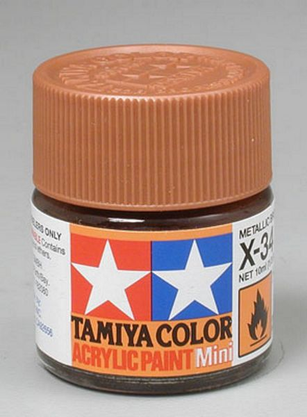Tamiya 81534 Acrylic Mini X-34 Met Brown