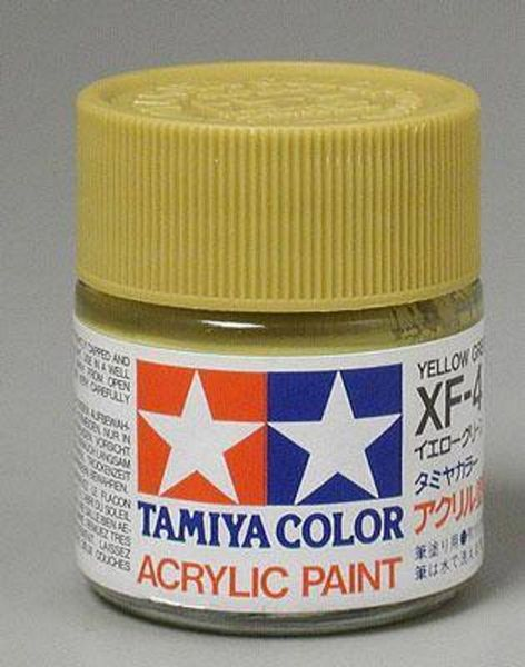 Tamiya 81704 Acrylic Mini XF-4 Yellow Green