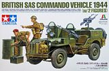 Tamiya 25152 British SAS Commando Vehicle 1944 with 2 Figure