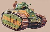 TAMIYA 30058 French Battle Tank B1 bis