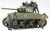 Tamiya 25105 M4A2 76W Sherman Red Army with 6 Figures