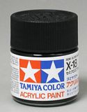Tamiya 81018 Acrylic X-18 Semi Gloss Black