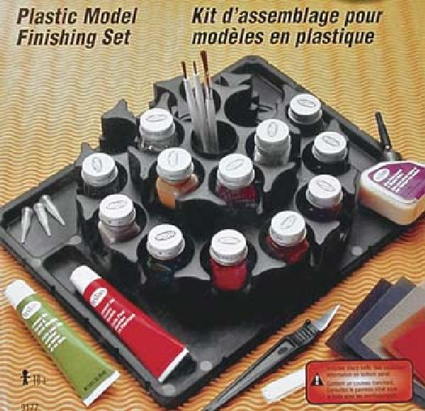 Testors 9177 Plastic Model Finishing Kit Enamel