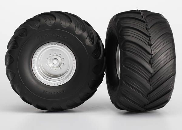 Traxxas 3663 Tires-Whls Assmbld Glued Re Monster Jam 2