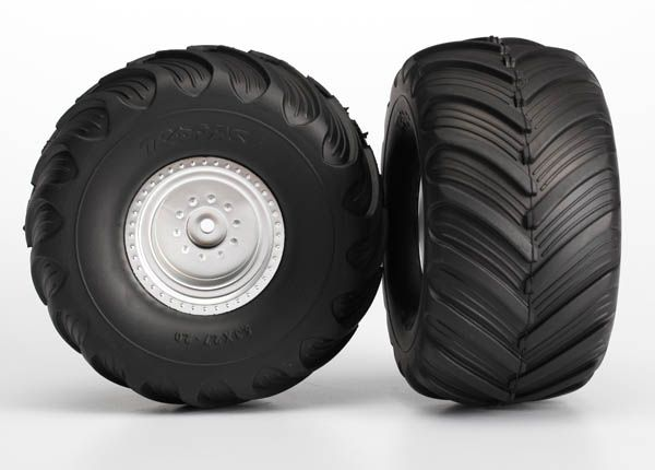 TRAXXAS 3665 Tires-Wheels Assembled Glued Fr Monster Jam 2