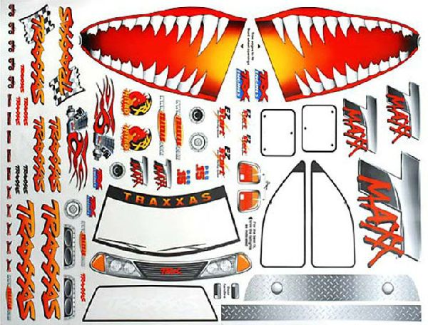 Traxxas 4913X Decal Sheet Jaws T-Maxx