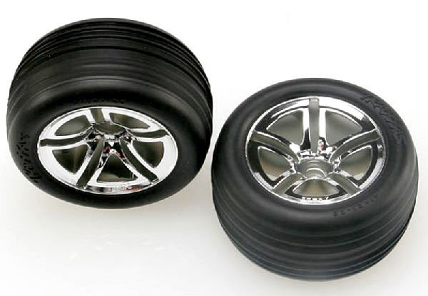 Traxxas 5574R Tires and Wheels Assembled Front 28 2