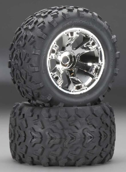 Traxxas 5674 Maxx Tires On Geode Wheels 2