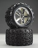 Traxxas 5374 Talon 38 Tire On Gemini Wheel T-Maxx-Revo 2