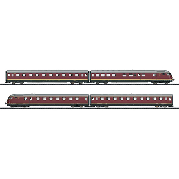 Trix 22602 VT 08 5 Paris Ruhr TEE Diesel Powered Rail Car Train