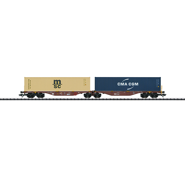 Trix 24800 Type Sggrss 80 Double Container Transport Car