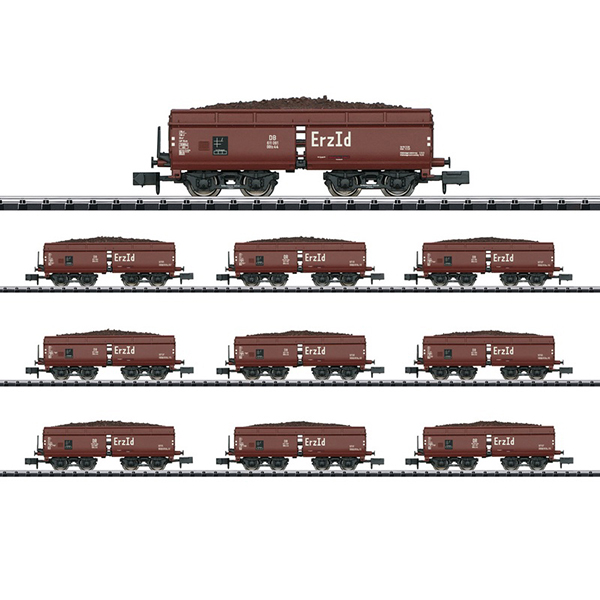 MiniTrix 15449 Display with 10 Type Erz Id Hopper Cars