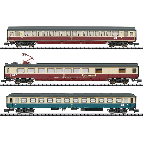 MiniTrix 15459 IC 611 Gutenberg Express Train Passenger Car Set