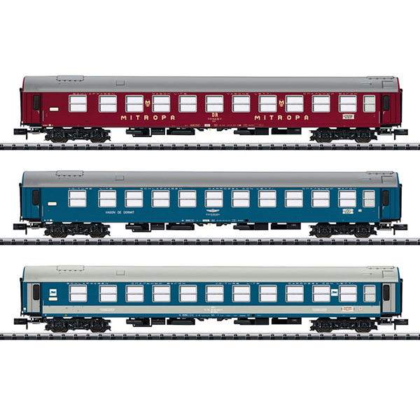 MiniTrix 15996 Baltic-Orient Express Express Train Passenger Car Set