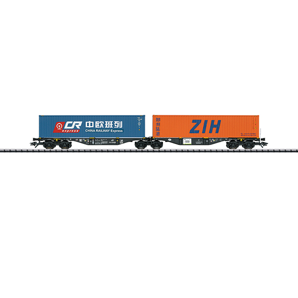 Trix 24802 Type Sggrss Double Container Transport Car