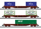 MiniTrix 15072 Container Flat Car Set