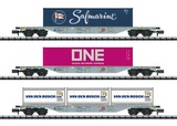 MiniTrix 15228 Container Flat Car Set