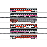 Minitrix 15389 ICRm Express Train Passenger Car Set