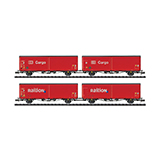 Minitrix 15544 Sliding Wall Boxcar Set