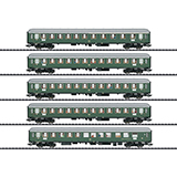 Trix 23132 D96 Isar Rhone Express Train Passenger Car Set 1