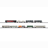 MiniTrix 15074 Modern Railroading Set with 10 Freight Cars