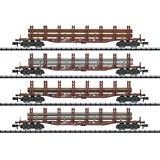 MiniTrix 15484 Steel Transport Freight Car Set