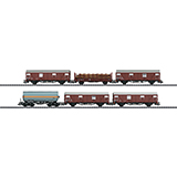 Trix 24244 DB freight cars 4 type Gltmmehs boxcars