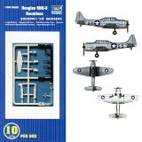 Trumpeter 06204 1-350 SBD-3 Dauntless Aircraft Carrier Fleet 10