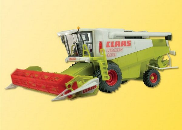 Viessmann 1259 H0 Combine harvester CLAAS with front lights and rotating coiler functional model