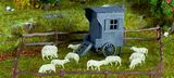 Vollmer 47717 N Shepherds Wagon with Sheep