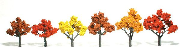 Woodland Scenics 1541 Trees Deciduous Fall Mix Pack of 6