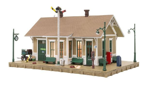 Woodland Scenics 5023 Dansbury Depot Built And Ready Landmark Structures Assembled