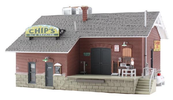 Woodland Scenics 5028 Chips Ice House Built And Ready Landmark Structures Assembled