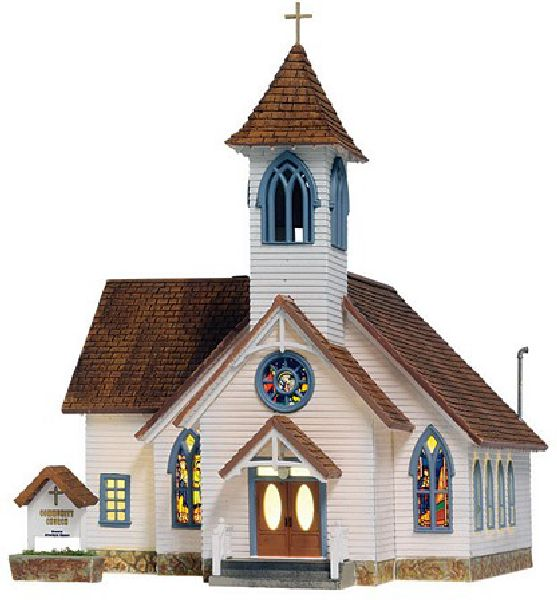 Woodland Scenics 5041 Community Church Built And Ready Landmark Structures Assembled