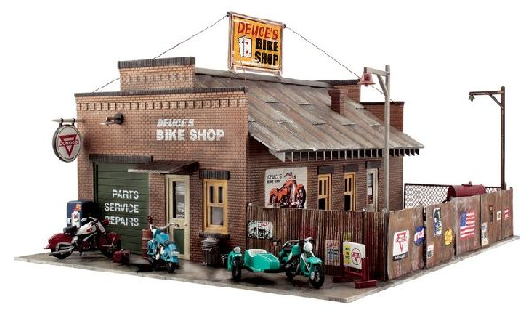 Woodland Scenics 5045 Deuces Bike Shop Built And Ready Landmark Structures Assembled