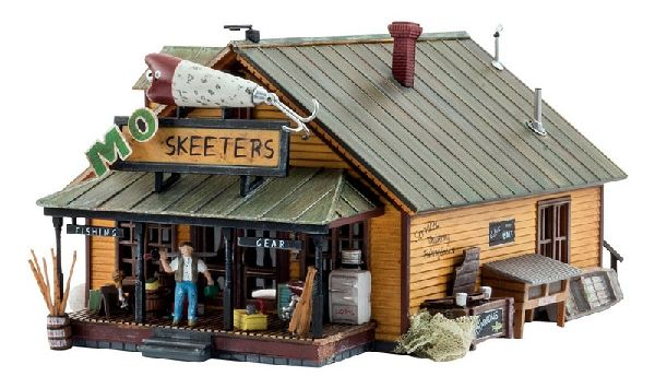 Woodland Scenics 5047 Mo Skeeters Bait And Tackle Built And Ready Landmark Structures Assembled