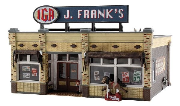Woodland Scenics 5050 J Franks Grocery Built And Ready Landmark Structures Assembled