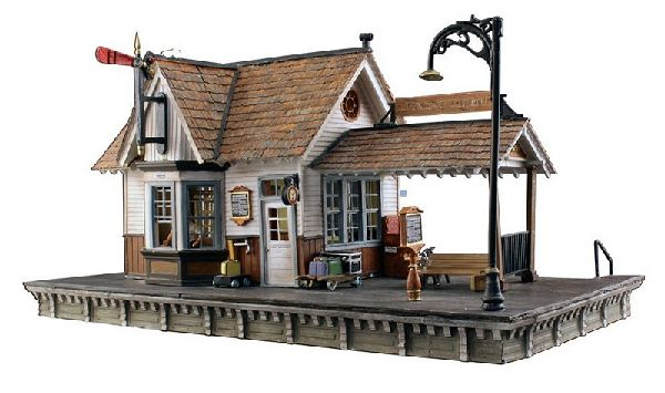 Woodland Scenics 5052 The Depot Built And Ready Landmark Structures Assembled with Interior Light