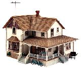 Woodland Scenics 5046 Corner Porch House Built And Ready Landmark Structures Assembled