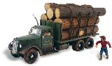 Woodland Scenics 5343 Tim Burr Logging Assembled AutoScenes Truck Lumber Load And Figures